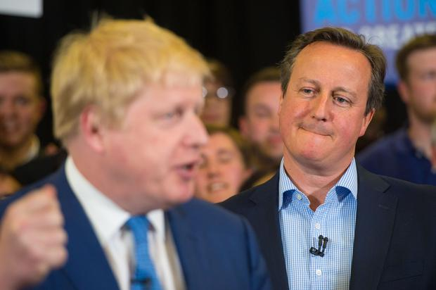 David Cameron said Boris Johnson had faced a tougher challenge than anything for the past '40 to 50 years' (Dominic Lipinski/PA)