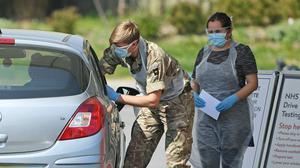 The military is to begin operating mobile coronavirus testing units which will travel (Kirsty O'Connor/PA)