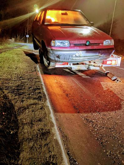 Police said the car was not tied down (Police Scotland/PA)