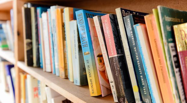 General view of books on a bookshelf at Hay Castle at Hay Festival in Powys, Wales. Online book seller The Book People has hired administrators, putting almost 400 jobs at risk (Ryan Phillips/PA)