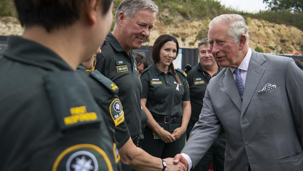 He also spoke to some of the people who were first responders on the evening the 7.8 magnitude earthquake struck Christchurch in 2016 (Victoria Jones/PA)