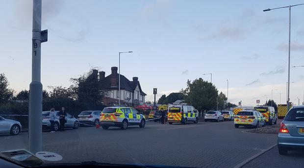 Police at Hillingdon station in London (Anne Robinson/PA)