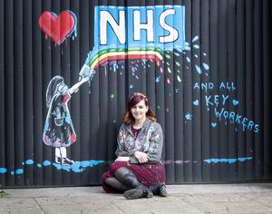 Rachel List's mural on the gates of the Hope and Anchor (Danny Lawson/PA)