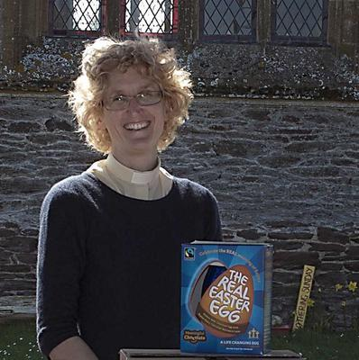 Jane Haslam, the Rector of Moorland, at St Peter and St John's Church where the first service to be held there since massive floods devastated the area.