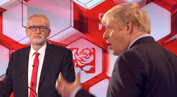 Jeremy Corbyn and Boris Johnson (BBC)