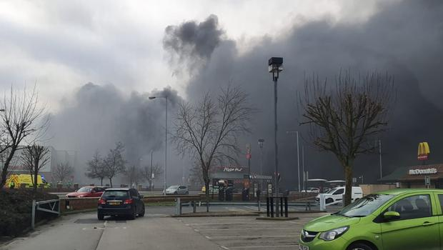 Smoke could be seen across the area (TQSecurity/Twitter/PA)