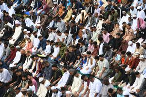 In previous years, thousands of people attended Birmingham's Eid celebration of the end of Ramadan (Joe Giddens/PA)