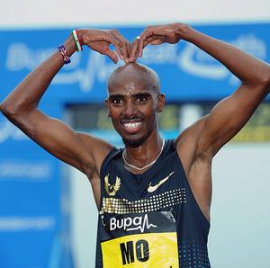 "Reflecting on his chances of winning the London Marathon, Mo Farah said: ""I have a good chance."""