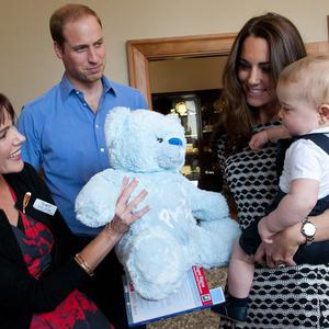 The Duke and Duchess of Cambridge and Prince George visit Plunket, a child welfare group at Government House, Wellington