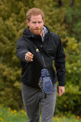 The Duke of Sussex also had a go at welly-wanging (Dominic Lipinski/PA)