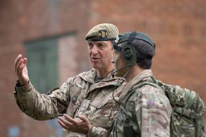 Colonel Adam Crawley, who is in charge of all training at Sandhurst (Joe Giddens/PA)