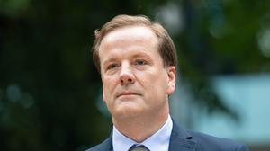Former Conservative MP Charlie Elphicke arriving at Southwark Crown Court, where he faces three charges of sexual assault (Dominic Lipinski/PA)