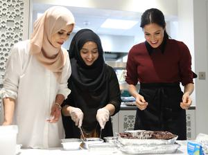 The Duchess of Sussex visiting the Hubb Community Kitchen (Chris Jackson/PA)
