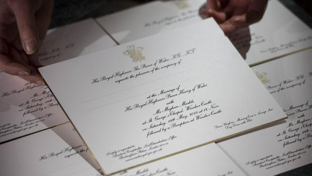 Invitations for Prince Harry and Meghan Markle's wedding (Victoria Jones/PA)
