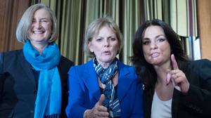 (Left to right) MPs Sarah Wollaston, Anna Soubry and Heidi Allen (Stefan Rousseau/PA)