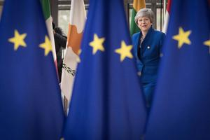 Theresa May was leader of the Conservative Party during the 2019 European Parliament elections (Stefan Rousseau/PA)