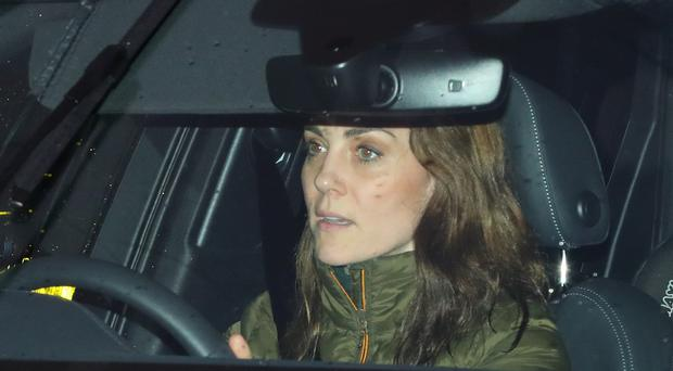 The Duchess of Cambridge arrives at Kensington Palace on her birthday (Aaron Chown/PA)