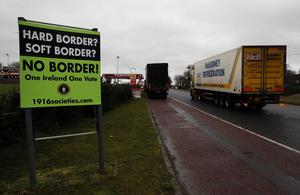 Lorry drivers may be prevented from crossing the Irish border without a permit.