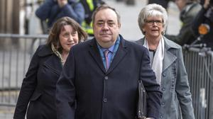 Alex Salmond arrives at the High Court in Edinburgh as his trial continues (Jane Barlow/PA)