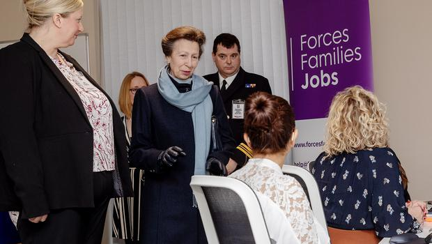 The Princess Royal meets Naval spouses in the new IT Room (Fleet Photographic Unit (North))