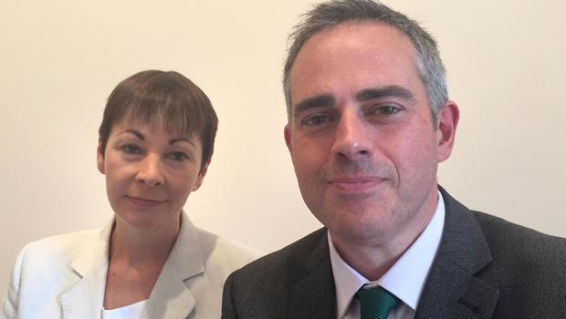 Caroline Lucas and Jonathan Bartley were elected in 2016 (Richard Vernalls/PA)