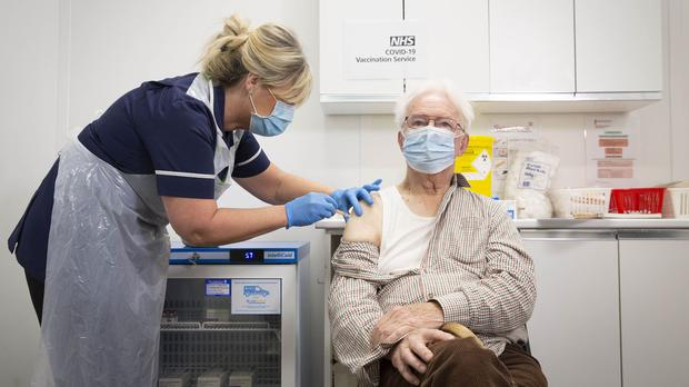 More than half of the UK's adult population have now received their first jab (Matt Alexander/PA)