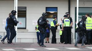 Counter Terrorist Specialist Firearms Officers at the Royal Sussex County Hospital in Brighton (Gareth Fuller/PA)