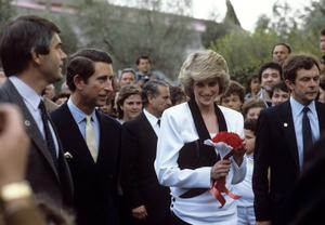 Diana and Charles during their visit to Rome, Italy (PA Archive)