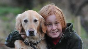 David Langton-Gilks, who died of a brain tumour, and his dog Honey, as a coalition of charities calls for better palliative care for children and young people.