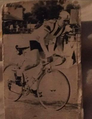 Archie Berry pictured during a 12-hour race in 1967 (Loch Lomond Road Cycling Club/PA)