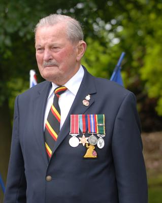 Eric Taylor, 99, from Helston in Cornwall, was in the 7th Batt Royal Norfolk Regiment (Christina Bowden)