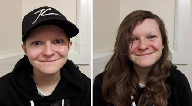 Gemma Watts in disguise as a boy, left, and in her true appearance (Metropolitan Police/PA)