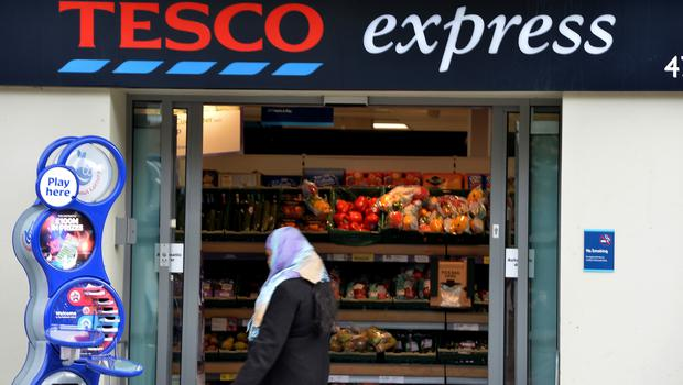 Most of the offending stores were Tesco Express outlets (Anthony Devlin/PA)