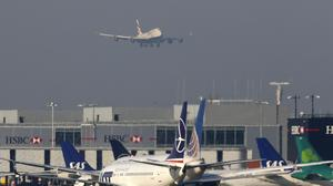 Passenger demand at Heathrow fell last month amid the coronavirus outbreak (Steve Parsons/PA)