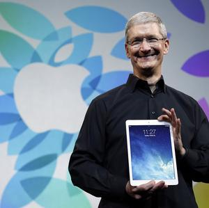 Apple CEO Tim Cook introduces the new iPad Air (AP)