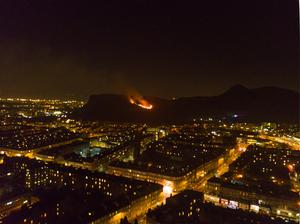 The flames were visible from across the city (Andy Holbrook/Twitter/PA)