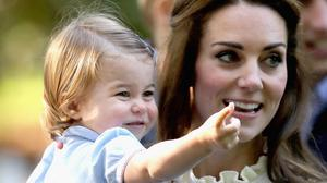 The Duchess of Cambridge with her daughter Princess Charlotte at a children's party for Military families at Government House in Victoria, Canada