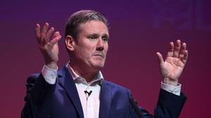 Sir Keir Starmer refused to commit to having Lisa Nandy and Rebecca Long Bailey in his shadow cabinet if he becomes the next Labour leader (Jane Barlow/PA)