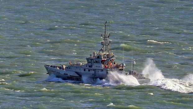 Border Force cutter Searcher near the Port of Dover in Kent (Gareth Fuller/PA)