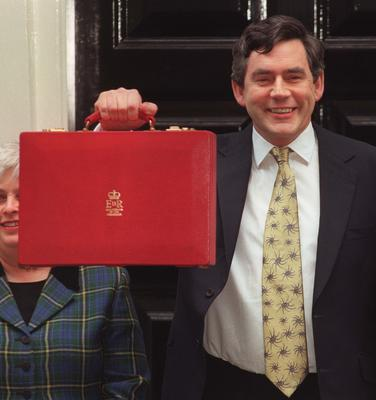 Gordon Brown had a new Red Box created for his first Budget (Tony Harris/PA)