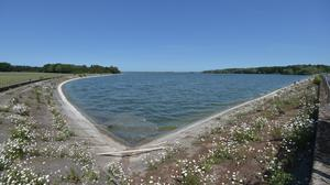 A view of the water level at Hanningfield reservoir (Nick Ansell/PA)