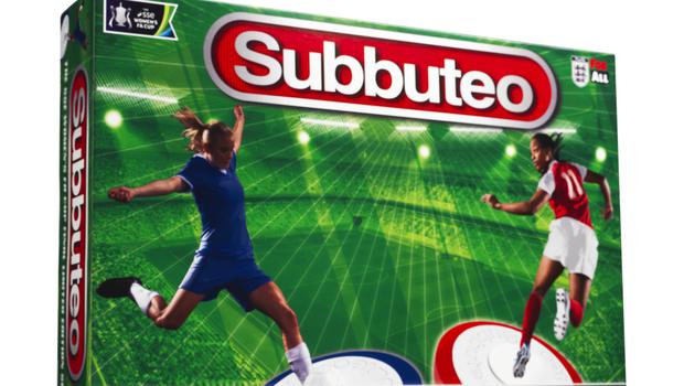 A limited edition all-female Subbuteo game has been released to celebrate the 2018 SSE Women's FA Cup final. (FA/PA)