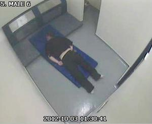 Thomas Orchard in a cell at Heavitree Road police station (IPCC/PA)