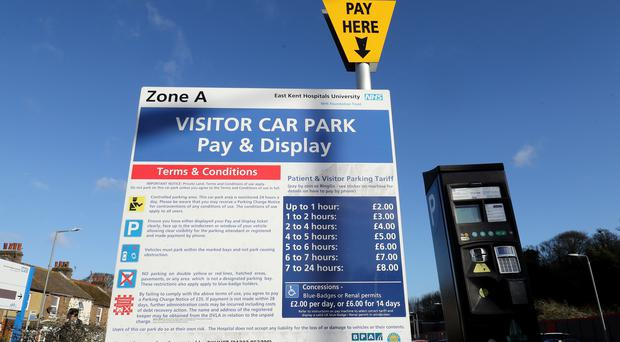 Hospitals have made more money than ever from charging staff, visitors and patients for parking (Gareth Fuller/PA)