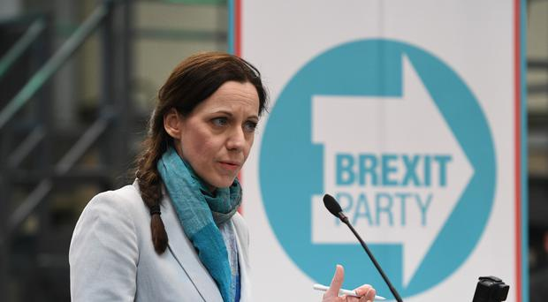 Annunziata Rees-Mogg speaking at the launch of the Brexit Party's European Parliament elections campaign in Coventry (PA)
