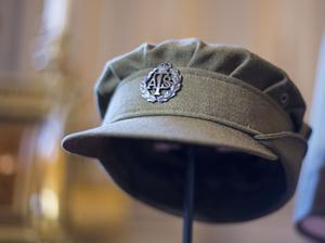 Princess Elizabeth's Auxiliary Territorial Service cap on display at Buckingham Palace in London during an exhibition in 2016 (Lauren Hurley/PA)