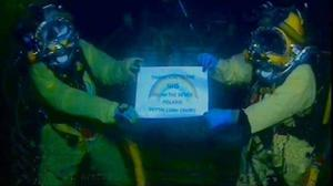 RMT divers in the North Sea thank the NHS (RMT/PA)