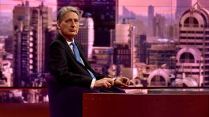 Chancellor Philip Hammond appearing on The Andrew Marr Show (BBC)