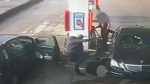 CCTV image of Aqeel Ahmed during the assault on a stranger at a petrol station (Greater Manchester Police/PA)