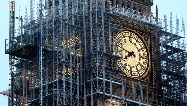 A man was arrested after scaling scaffolding around Big Ben (Gareth Fuller/PA)